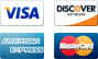 We accept payments from Visa, Discover, American Express and Mastercard